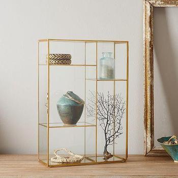 Gold Shadow Box, Display Case I West Elm