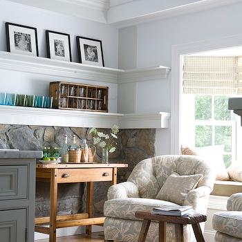 Wraparound Shelves, Cottage, living room, Lebey LTD Interiors