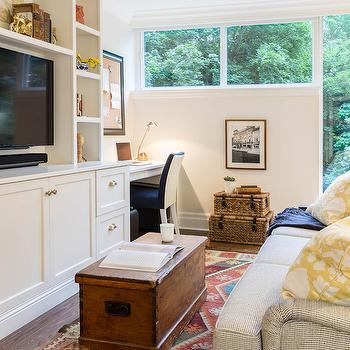 Built In Living Room Desk, Transitional, living room, Rebecca Hay Interior Design