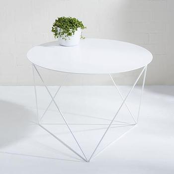 Eric Trine Octahedron Side Table, White I West Elm