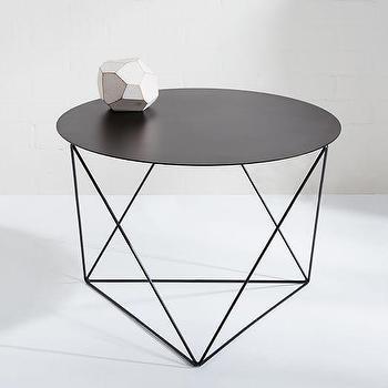 Eric Trine Octahedron Side Table, Black I West Elm
