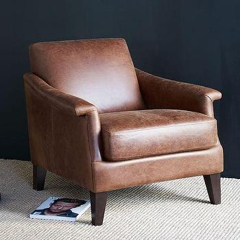 Writer's Leather Club Chair I West Elm