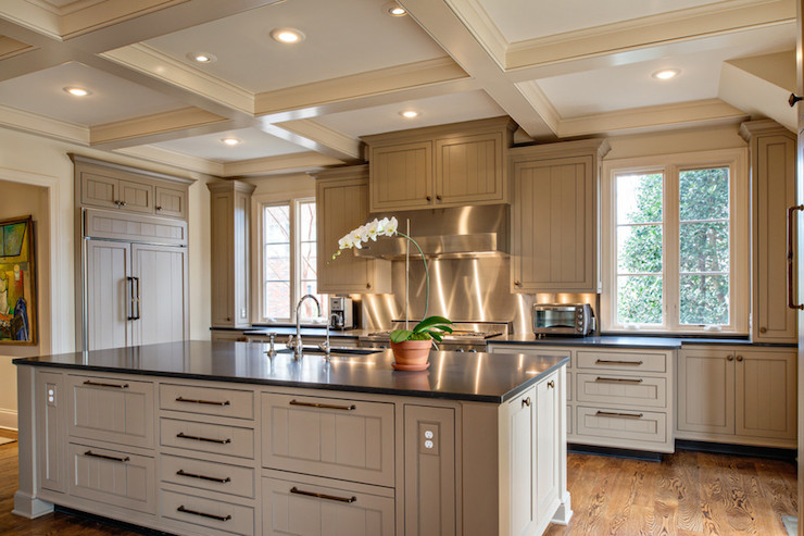 Taupe Kitchens Transitional Kitchen The Wills Company