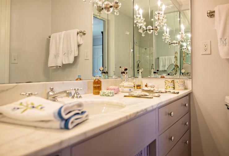 Gray Bath Vanity, Transitional, bathroom, The Wills Company