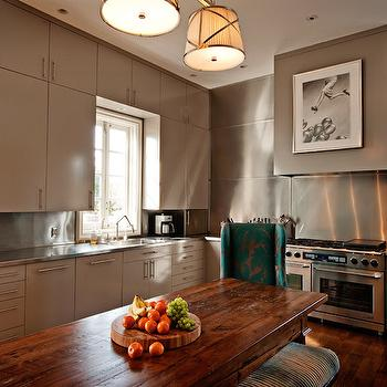 Modern Gray Kitchen Cabinets, Eclectic, kitchen, The Wills Company