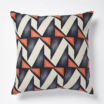 Patch NYC Prisms Pillow, Mandarin I West Elm