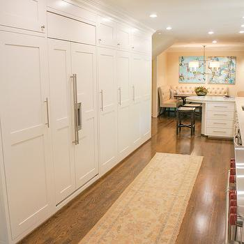 Concealed Refrigerator, Transitional, kitchen, The Wills Company