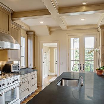 Taupe Beadboard Cabinets -Transitional, kitchen, The Wills Company