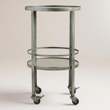 Round Bar Cart I West Elm