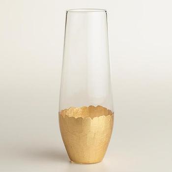 Gold Stemless Champagne Flutes, Set of 4 I World Market