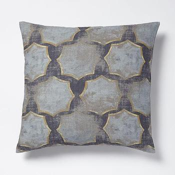Modernist Star Raw Silk Pillow Cover I West Elm