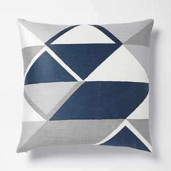 Velvet Diamonds Pillow Cover, Blue Lagoon I West Elm