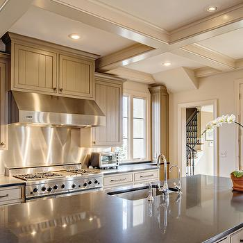 Taupe Kitchen Cabinets, Transitional, kitchen, The Wills Company