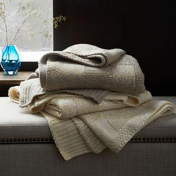 Gilded Square Textured Throw I West Elm