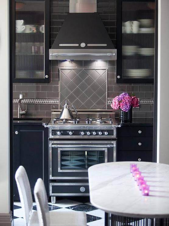 Gray Kitchen Backsplash, Contemporary, kitchen, Rob Stuart Interiors