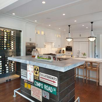 Kitchen with Wine Racks, Transitional, Kitchen, Blue Water Home Builders