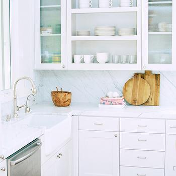 Kitchen with Statuary Marble, Transitional, kitchen, Owens and Davis