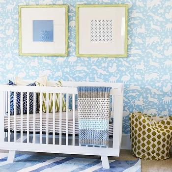 Thibaut Nairobi Wallpaper, Contemporary, nursery, 4 Chairs Furniture