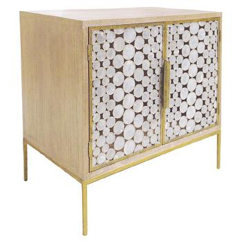 Oly Studio Serena Bedside Table I Zinc Door