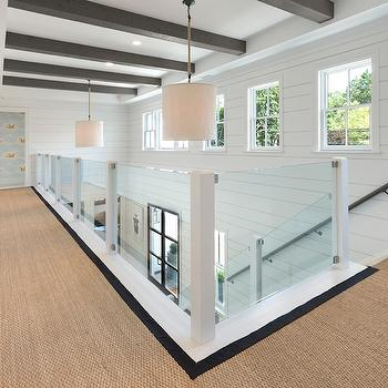 Glass Stair Railing, Transitional, Entrance/foyer, Blue Water Home Builders
