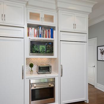 2 Fridges in Kitchen, Transitional, Kitchen, Blue Water Home Builders