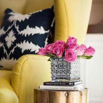 Yellow Accent Chair, Contemporary, living room, Martha O'Hara Interiors