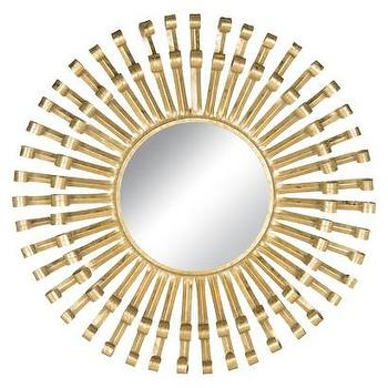 Safavieh Rayos Sunburst Wall Mirror, Brass I Target
