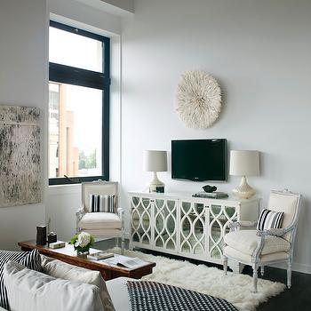 Mirrored TV Cabinet, Transitional, Living Room, The Cross Decor & Design