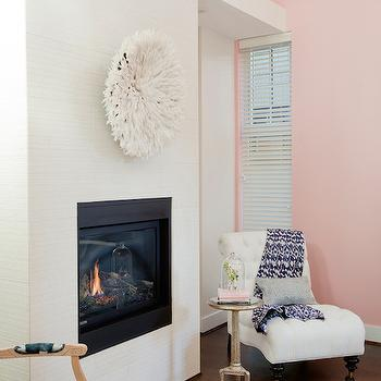 Fireplace with Juju Hat, Transitional, Living Room, The Cross Decor & Design