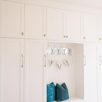 Floor to Ceiling Mudroom Lockers, Transitional, laundry room, 4 Chairs Furniture