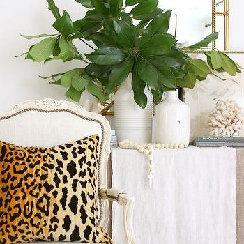 Leopard Pillow, Transitional, Entrance/foyer