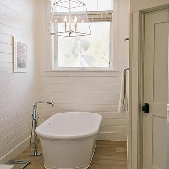 Lantern Over Bathtub, Transitional, bathroom, 4 Chairs Furniture
