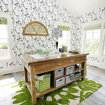 Craft Room Ideas, Transitional, den/library/office, 4 Chairs Furniture