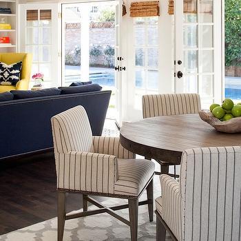 Stripe Dining Chairs, Transitional, kitchen, Martha O'Hara Interiors