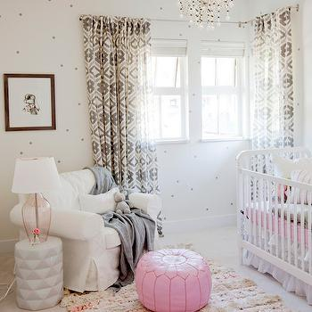 Pink and Gray Nursery, Transitional, Nursery, The Cross Decor & Design