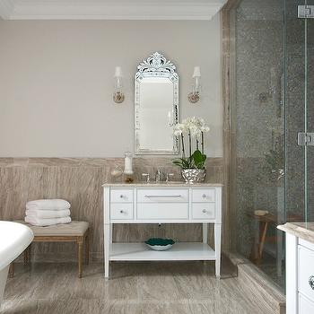 Karakaki Marble, Transitional, bathroom, Leona Mozes