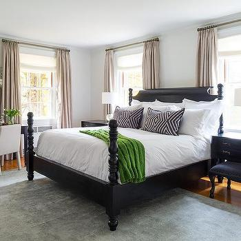 Black Poster Bed, Eclectic, bedroom, Chango & Co.