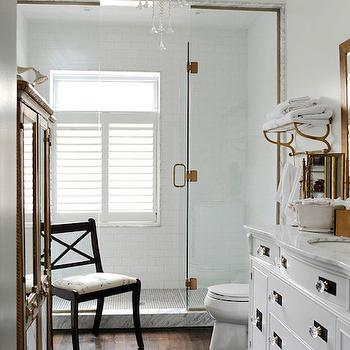 Elegant Bathroom Ideas, Traditional, bathroom, Benjamin Moore White Cloud, Leona Mozes