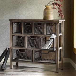 Renate CIRQUE Accent Metal Bin Console Table, Overstock.com