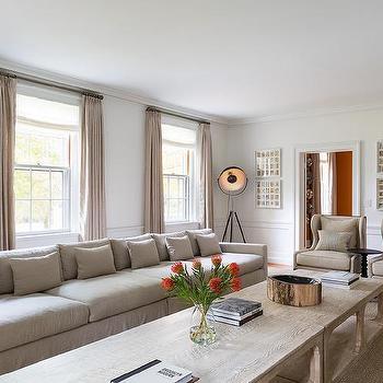 Extra Long Sofa, Eclectic, living room, Chango & Co.
