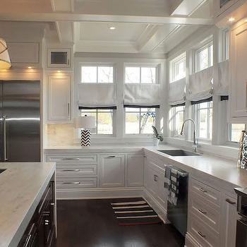 Kitchen Window Treatments, Transitional, kitchen, Katie Bassett Interiors