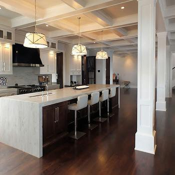 Long Kitchen Islands, Transitional, kitchen, Katie Bassett Interiors
