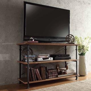 TRIBECCA HOME Myra Vintage Industrial TV Stand, Overstock.com