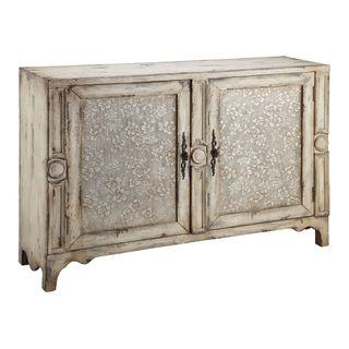 Brooke Aged Cream Accent Cabinet, Overstock.com