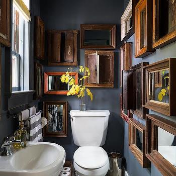 Vintage Mirrors, Eclectic, bathroom, Chango & Co.