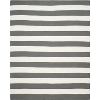 Safavieh Hand-woven Montauk Grey/ White Cotton Rug (8' x 10'), Overstock.com