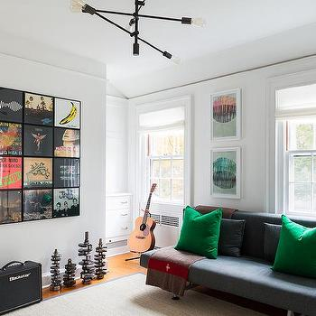 Using Albums as Art, Eclectic, media room, Chango & Co.
