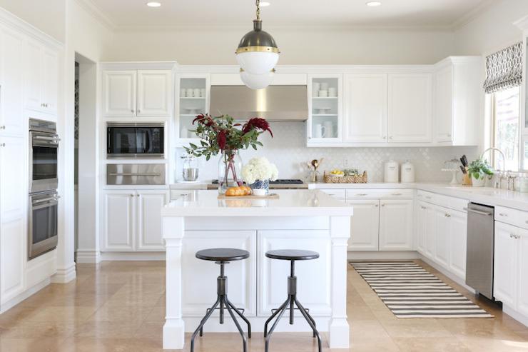 Stripe kitchen runner transitional kitchen benjamin for White heron paint