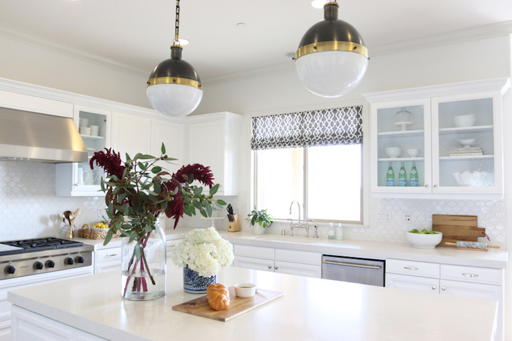 Frosty Carrina Counters, Transitional, kitchen, Benjamin Moore White Heron, Shea McGee Design