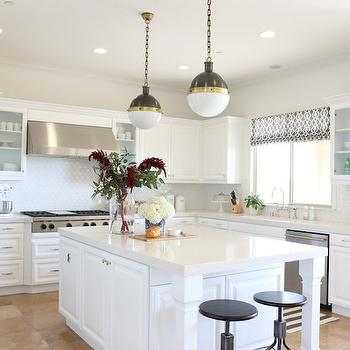 Frosty Carrina Countertops, Transitional, kitchen, Benjamin Moore White Heron, Shea McGee Design